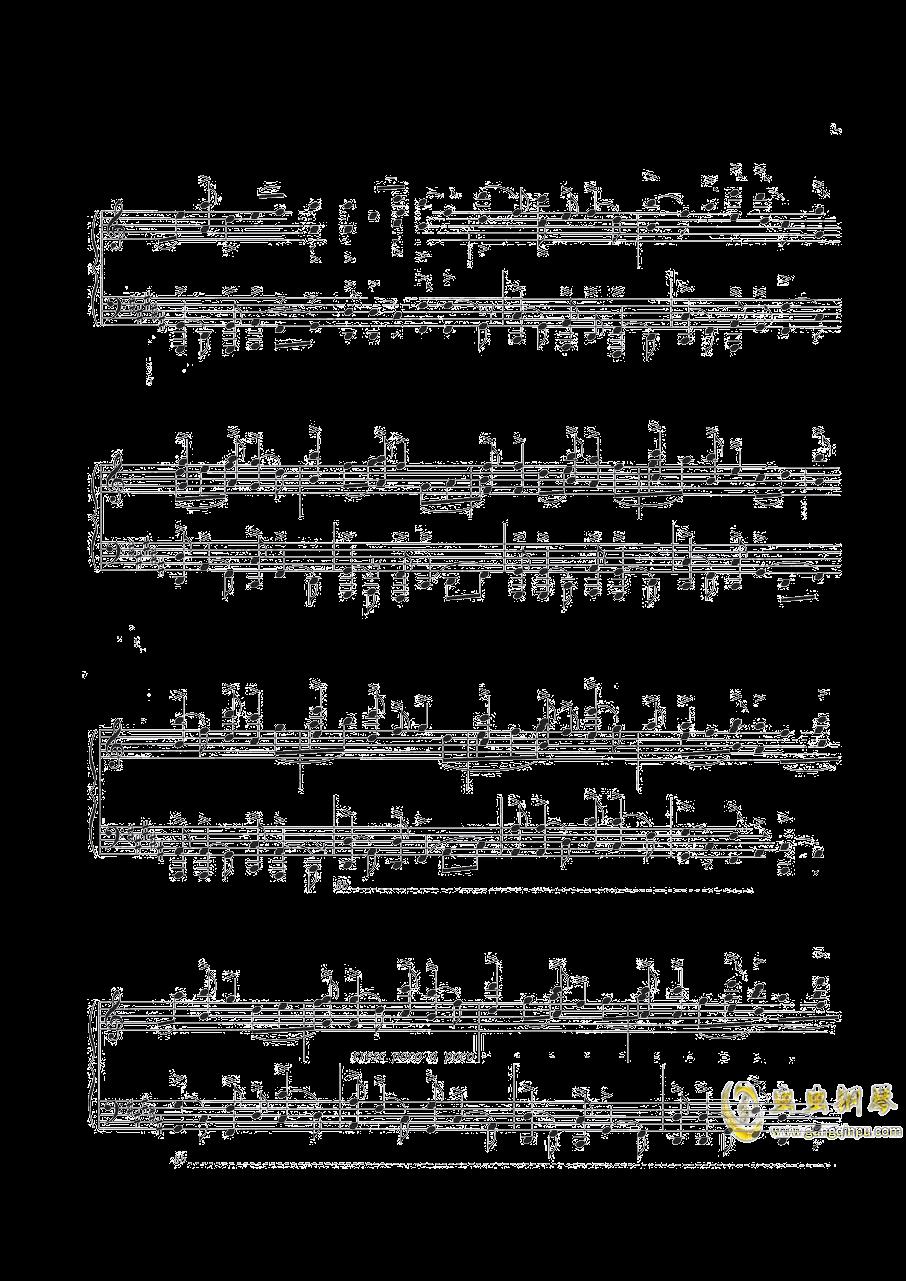 钢琴练习曲NO.1钢琴谱 第4页