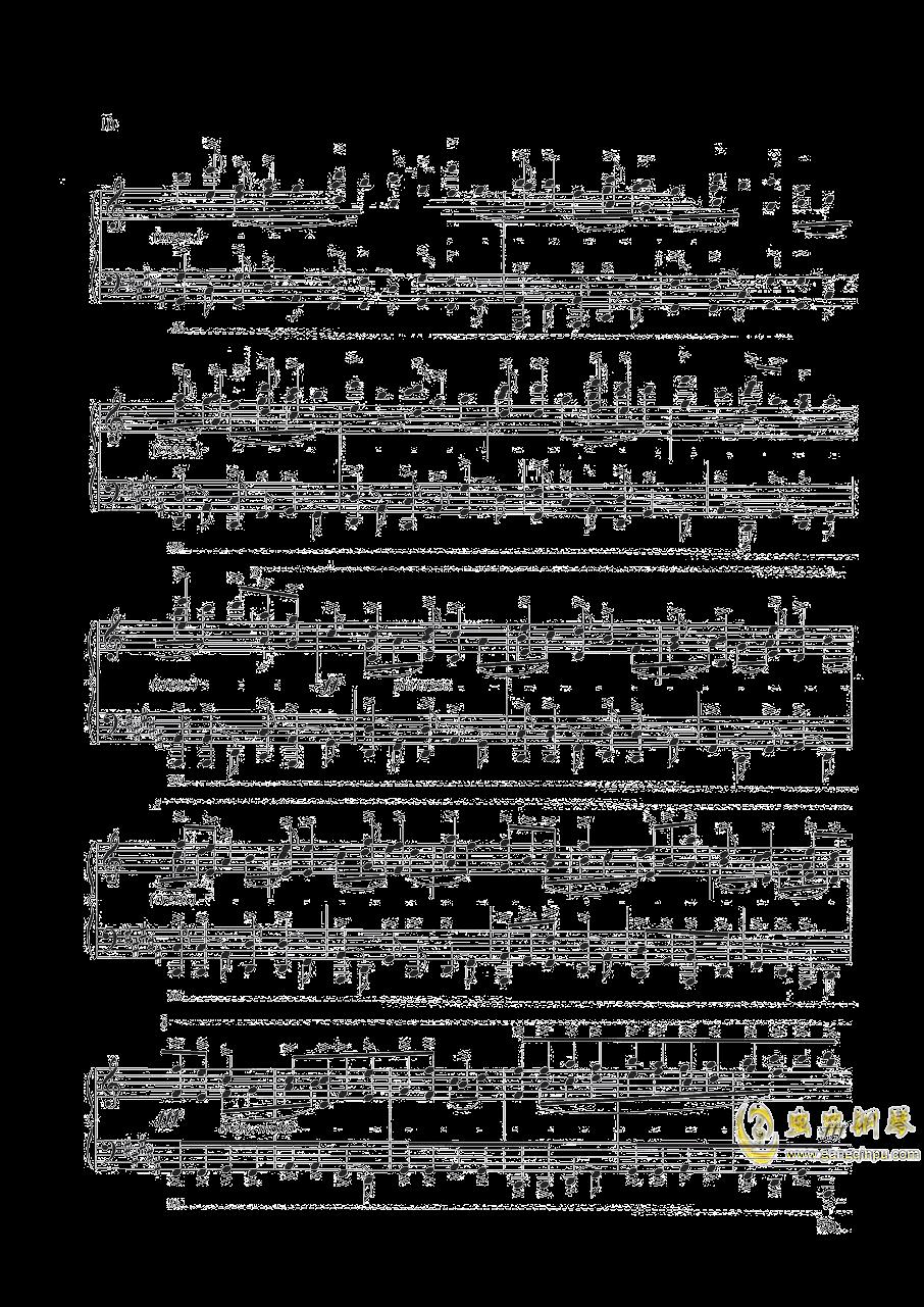 钢琴练习曲NO.1钢琴谱 第5页