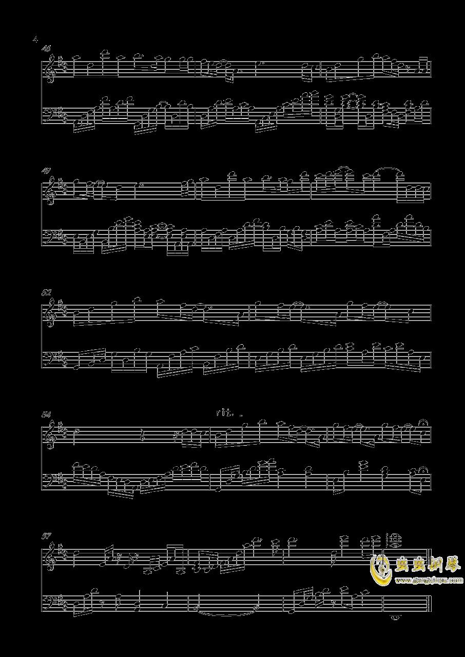 在兰生的日子钢琴谱 第4页