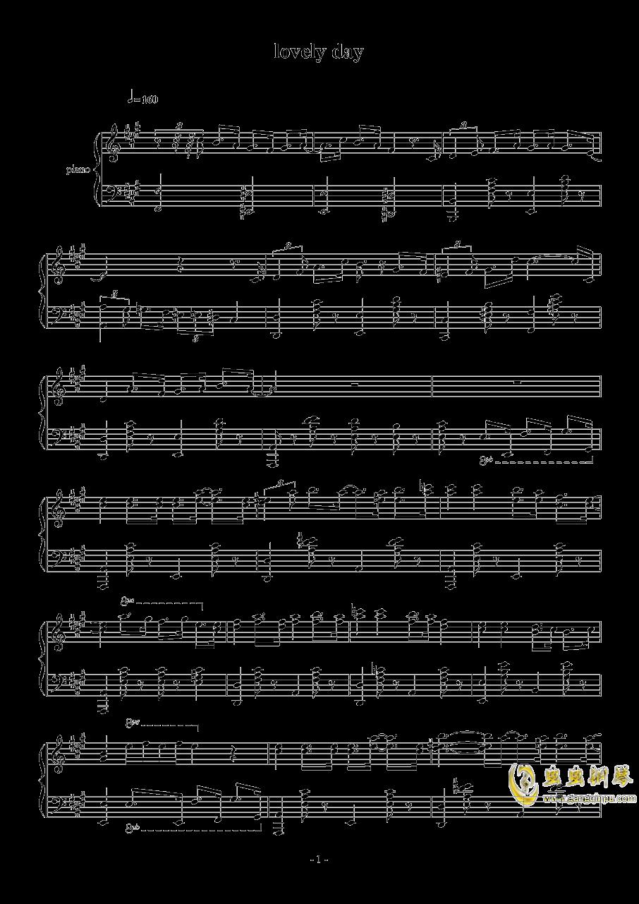 lovely day钢琴谱 第1页
