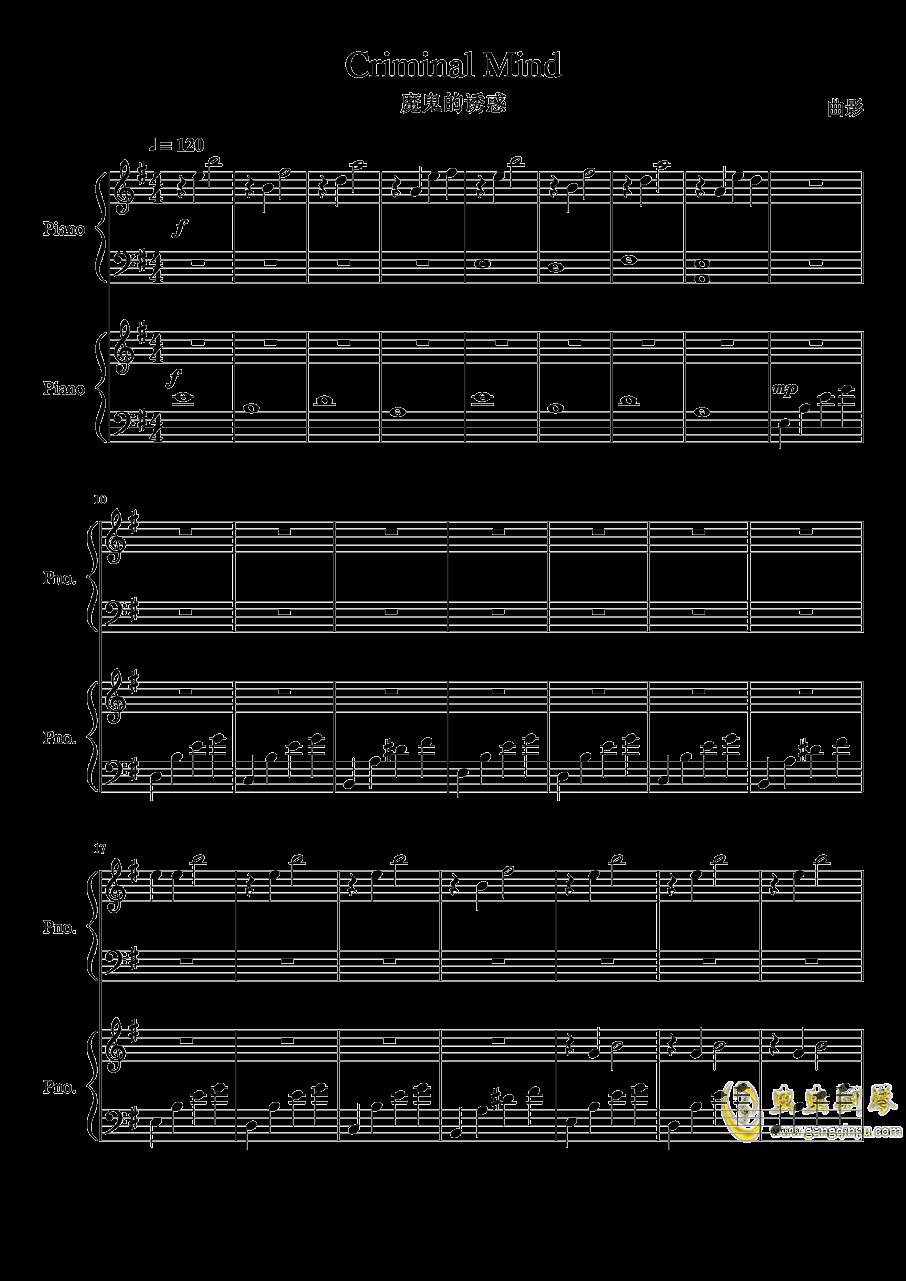 魔鬼的诱惑钢琴谱 第1页