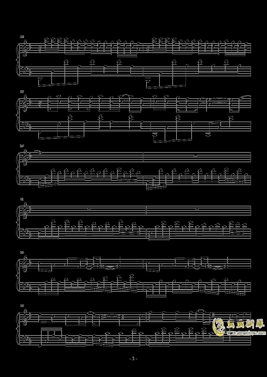 侧脸钢琴谱 第3页