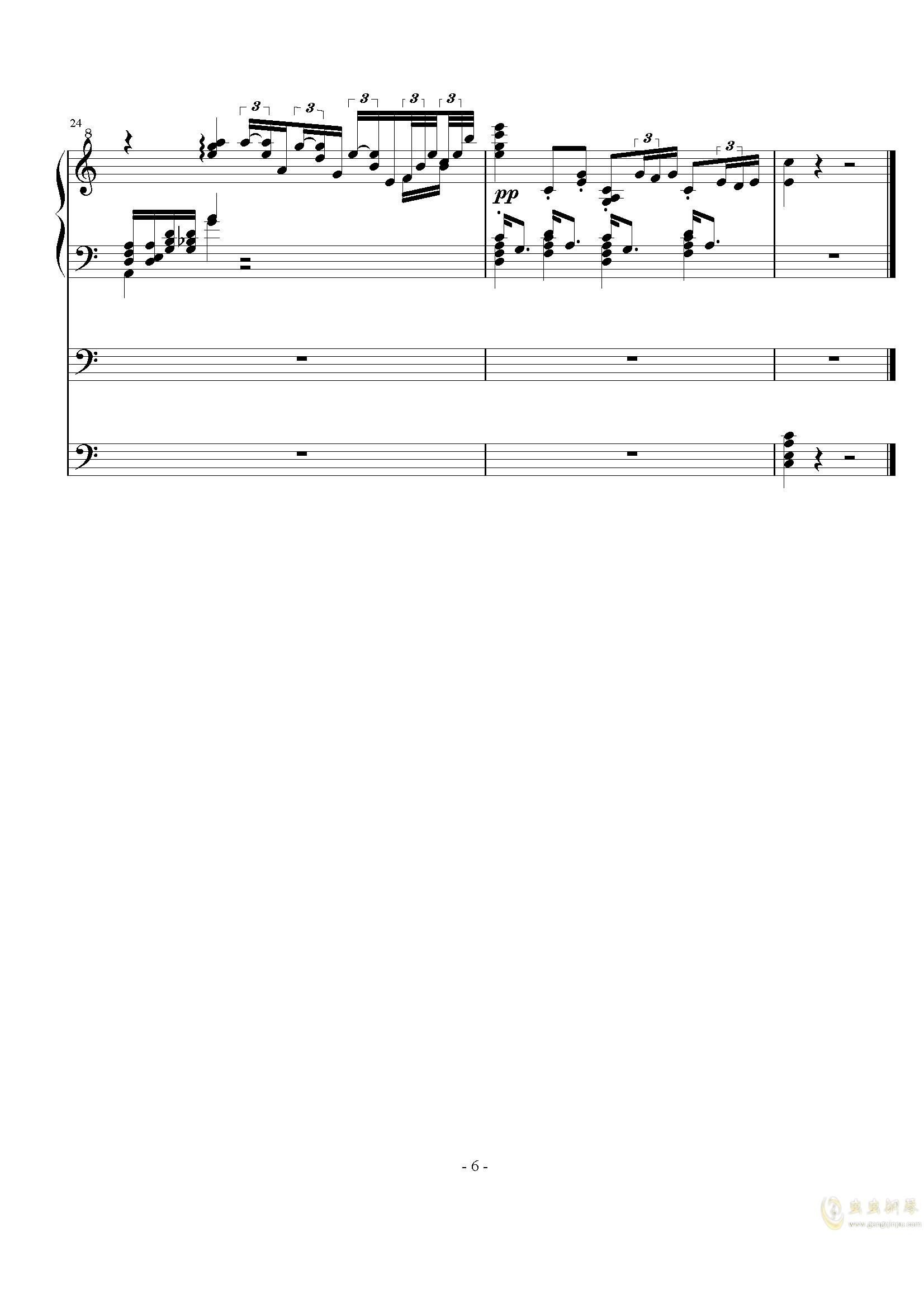 秋汶钢琴谱 第6页