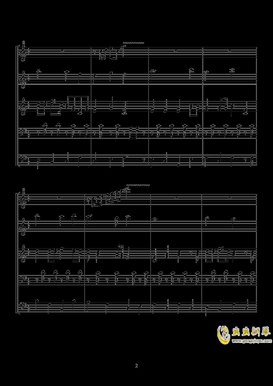 小游行钢琴谱 第2页
