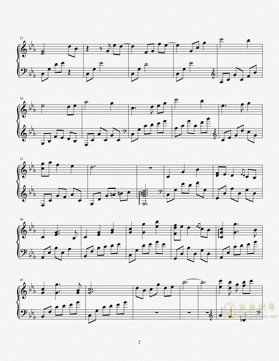 在りし日のふたり(异度神剑2片头曲)钢琴谱 第2页