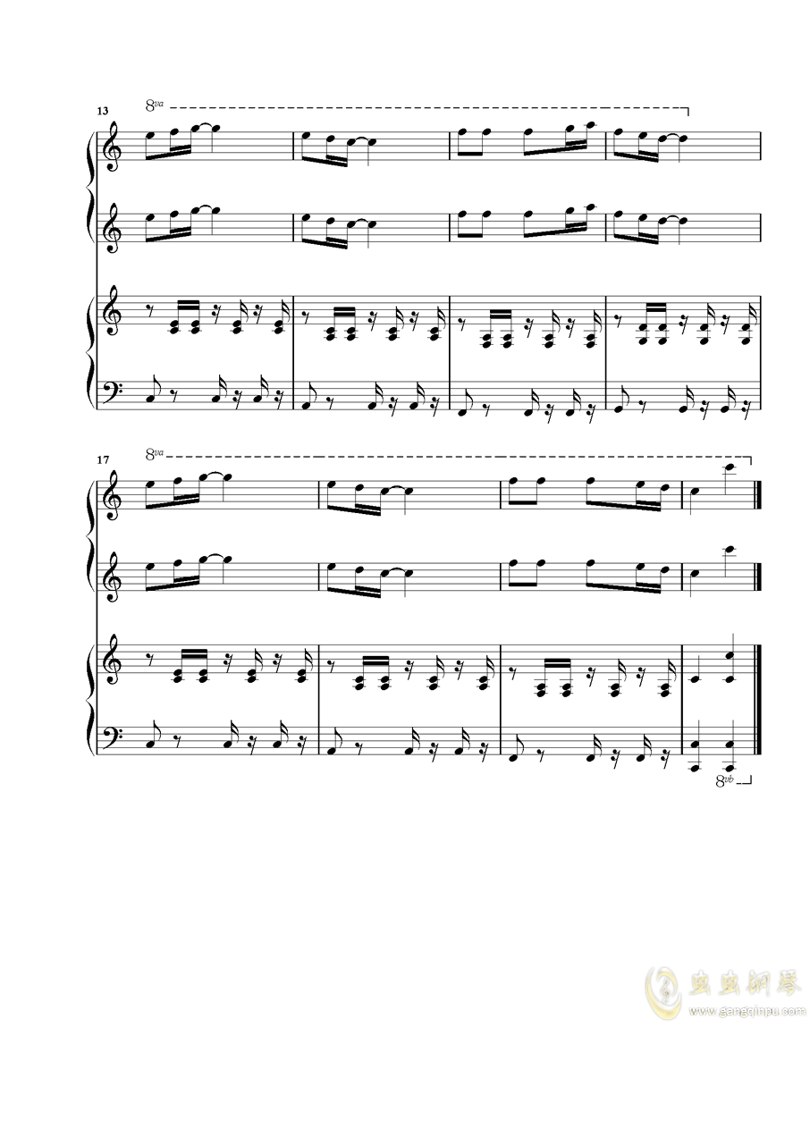雀跃的午后(LY)钢琴谱 第2页