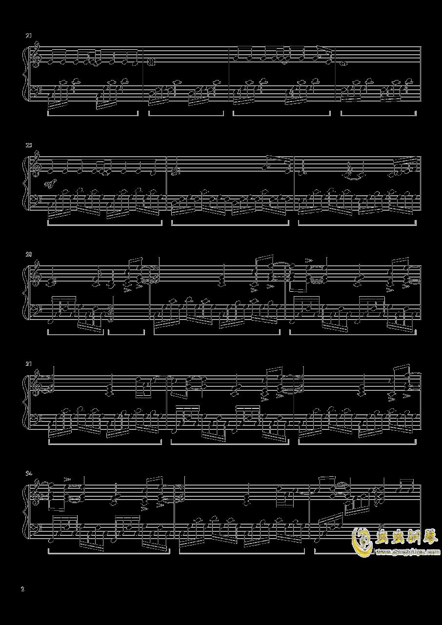 灰色钢琴谱 第2页