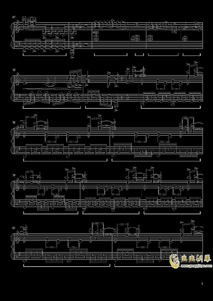 灰色钢琴谱 第5页