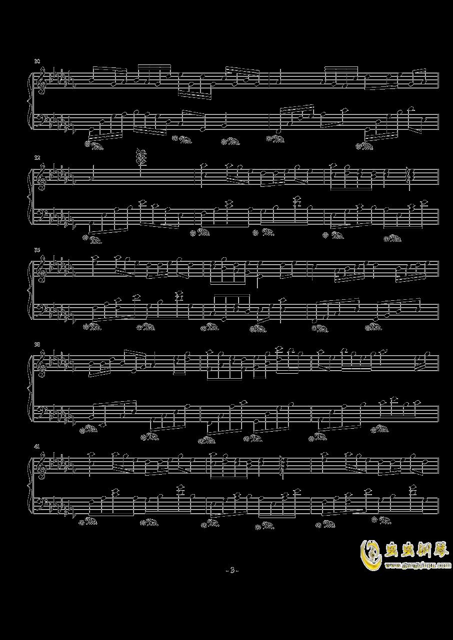 琴键上的女孩钢琴谱 第3页