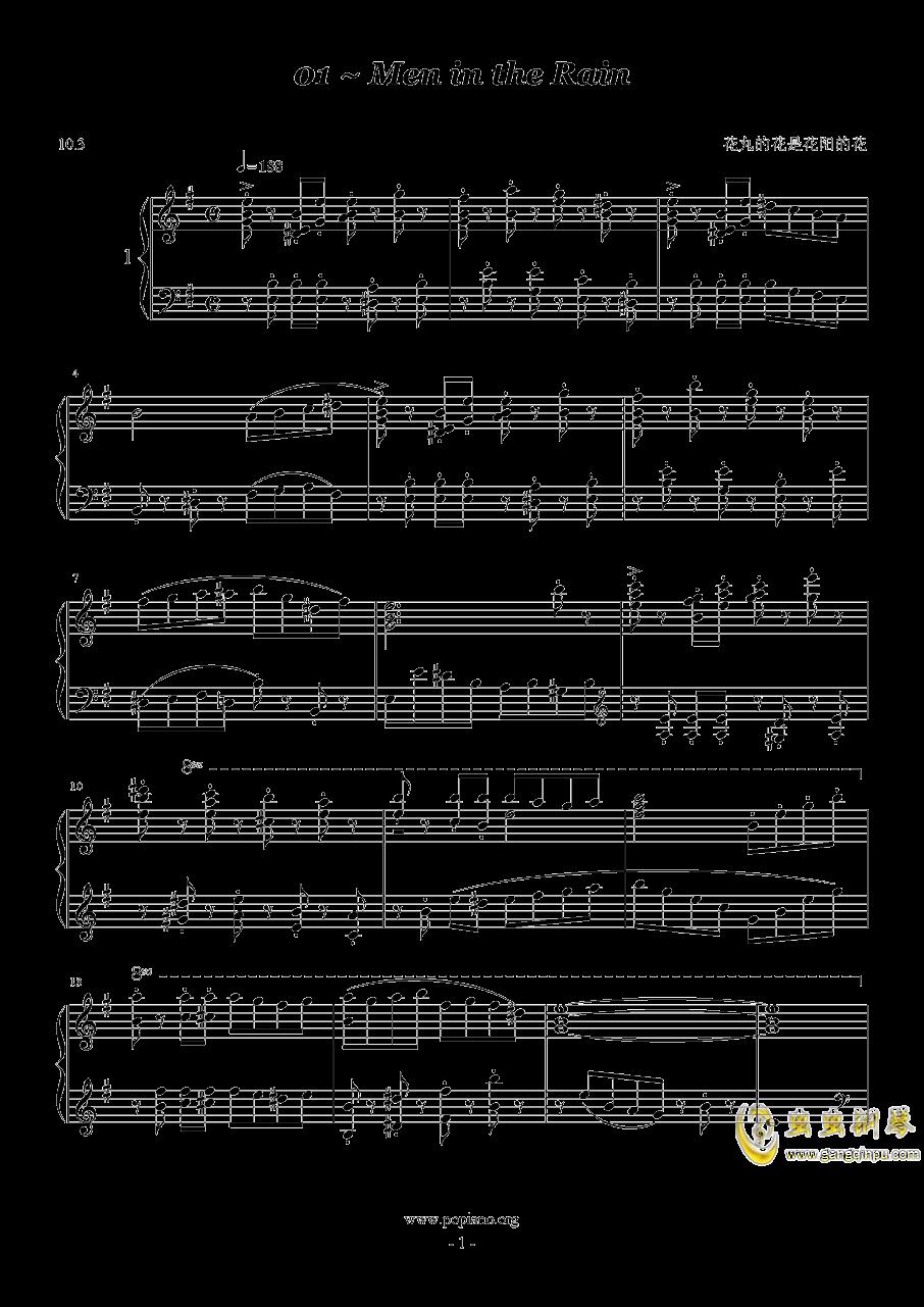 1分钟即兴曲钢琴谱 第1页