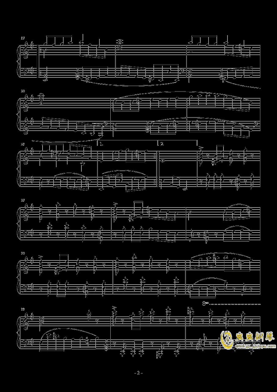 1分钟即兴曲钢琴谱 第2页