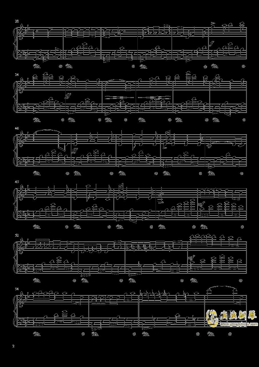 初雪冬景钢琴谱 第2页