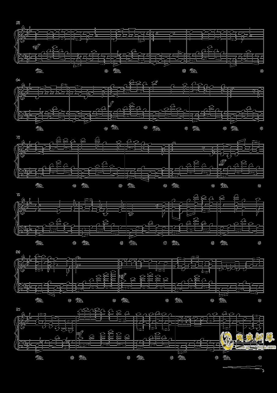初雪冬景钢琴谱 第3页