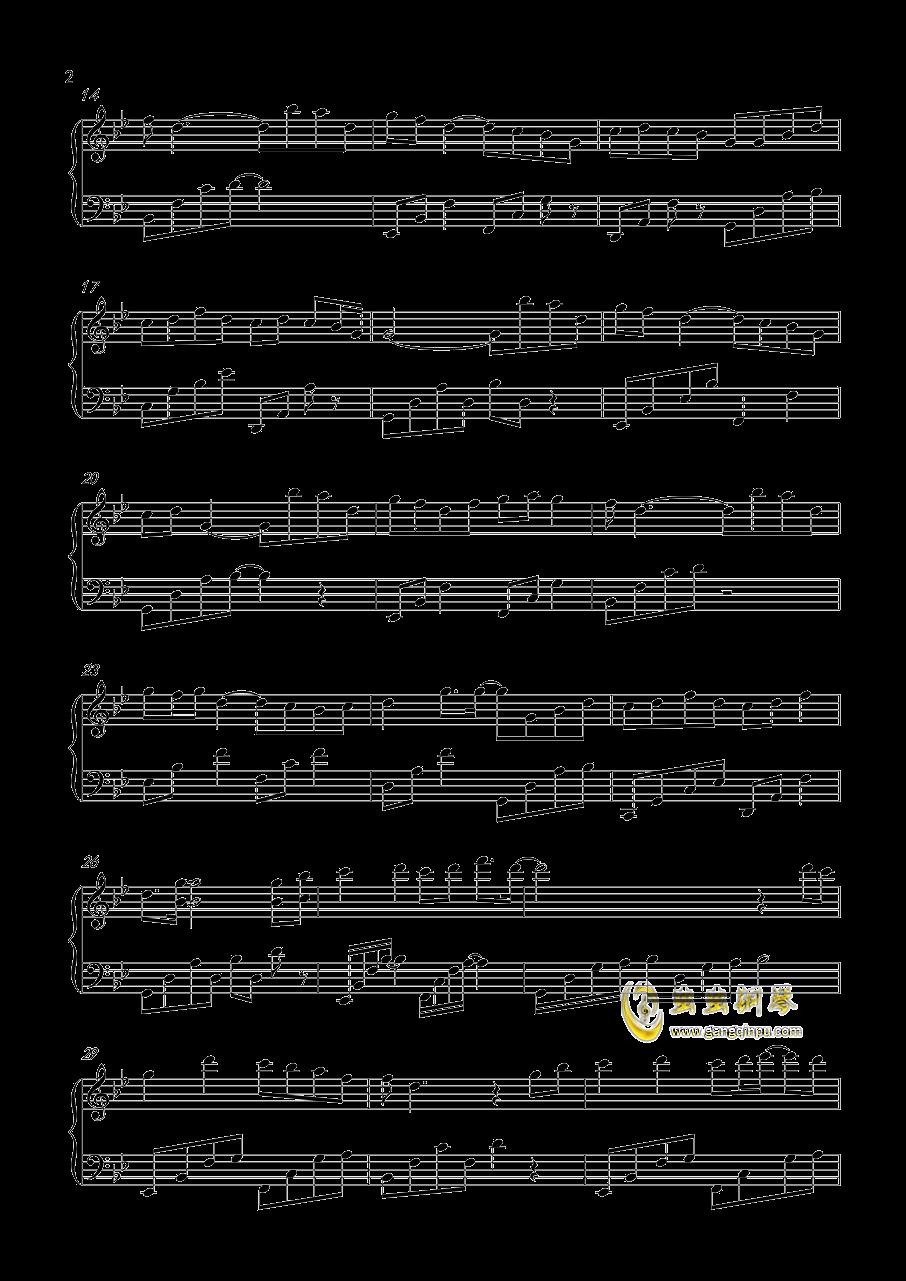 不染钢琴谱 第2页