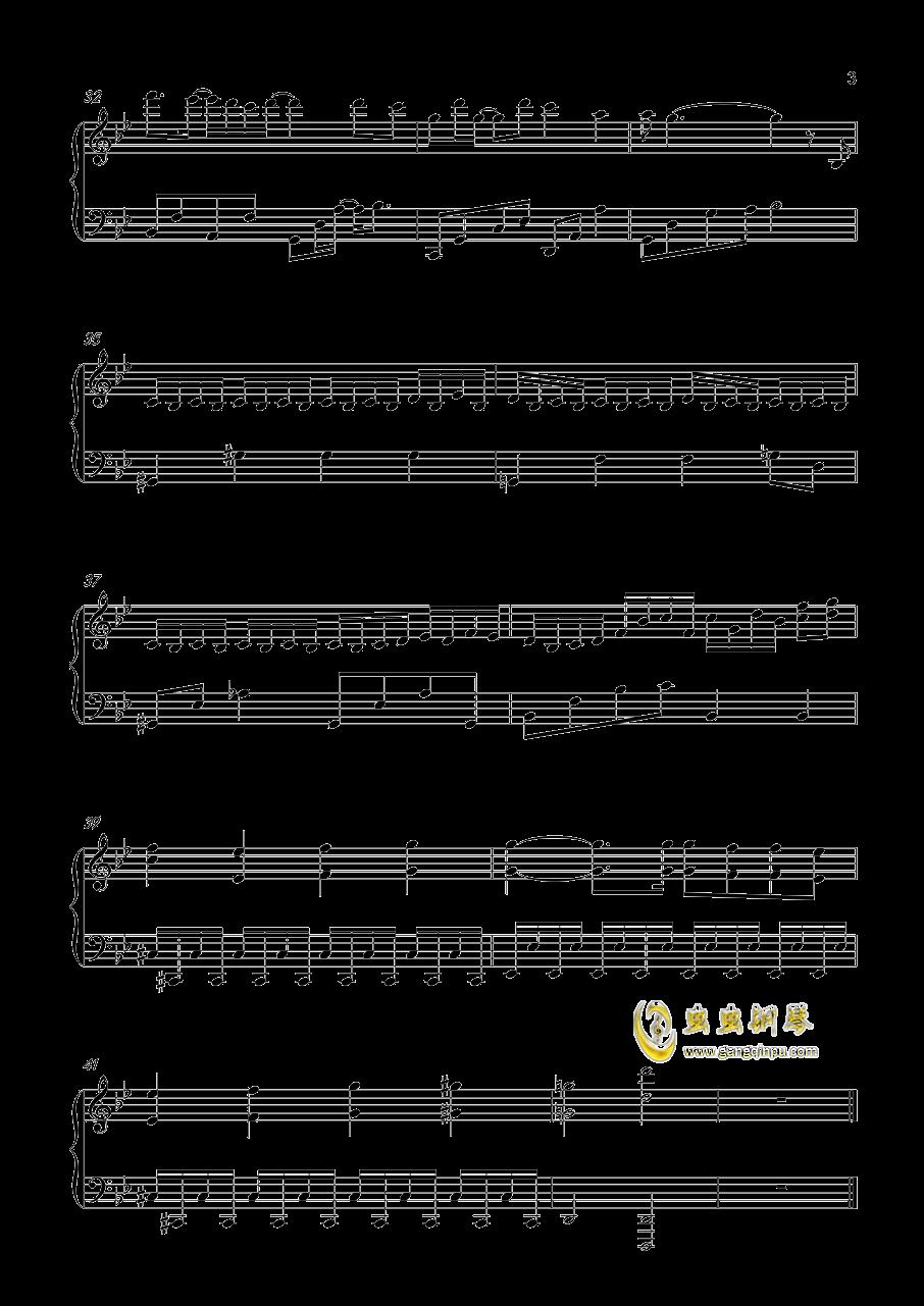 不染钢琴谱 第3页