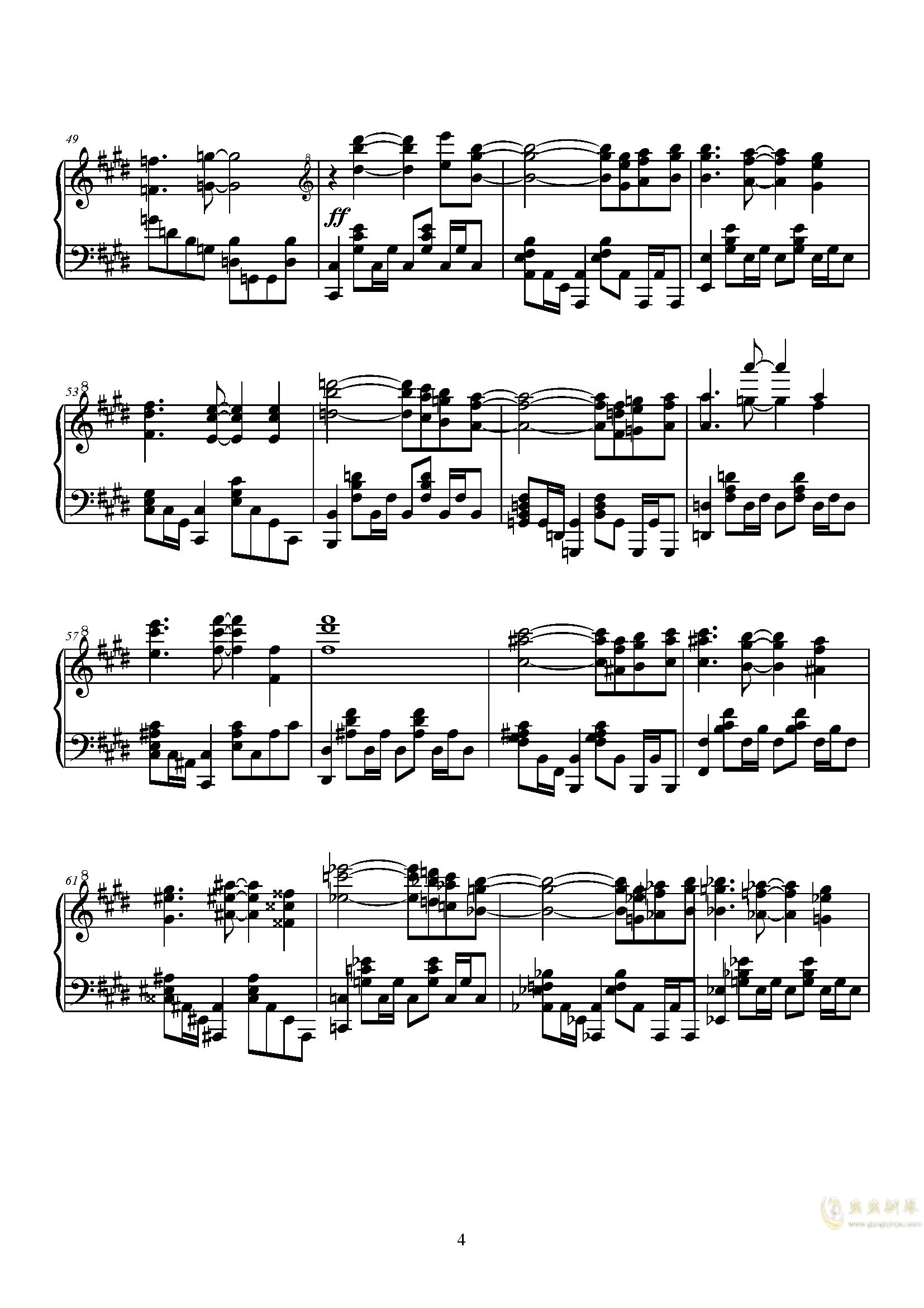 Q - Kiryu 钢琴谱 第4页