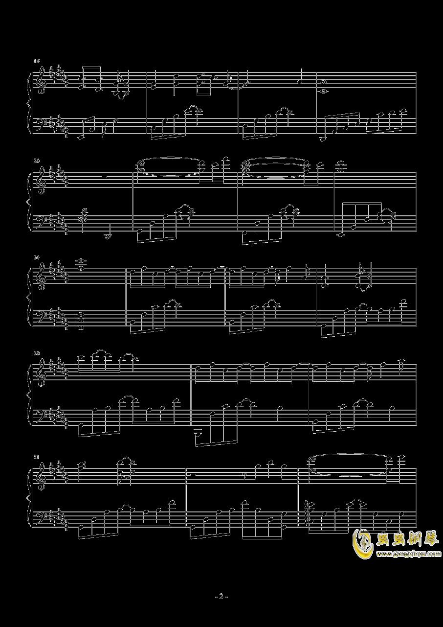 仙才叹钢琴谱 第2页