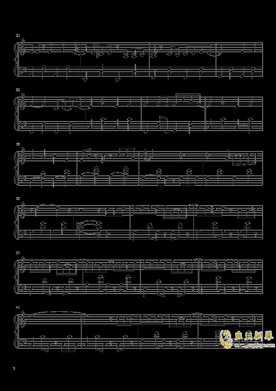 想�o你钢琴谱 第2页