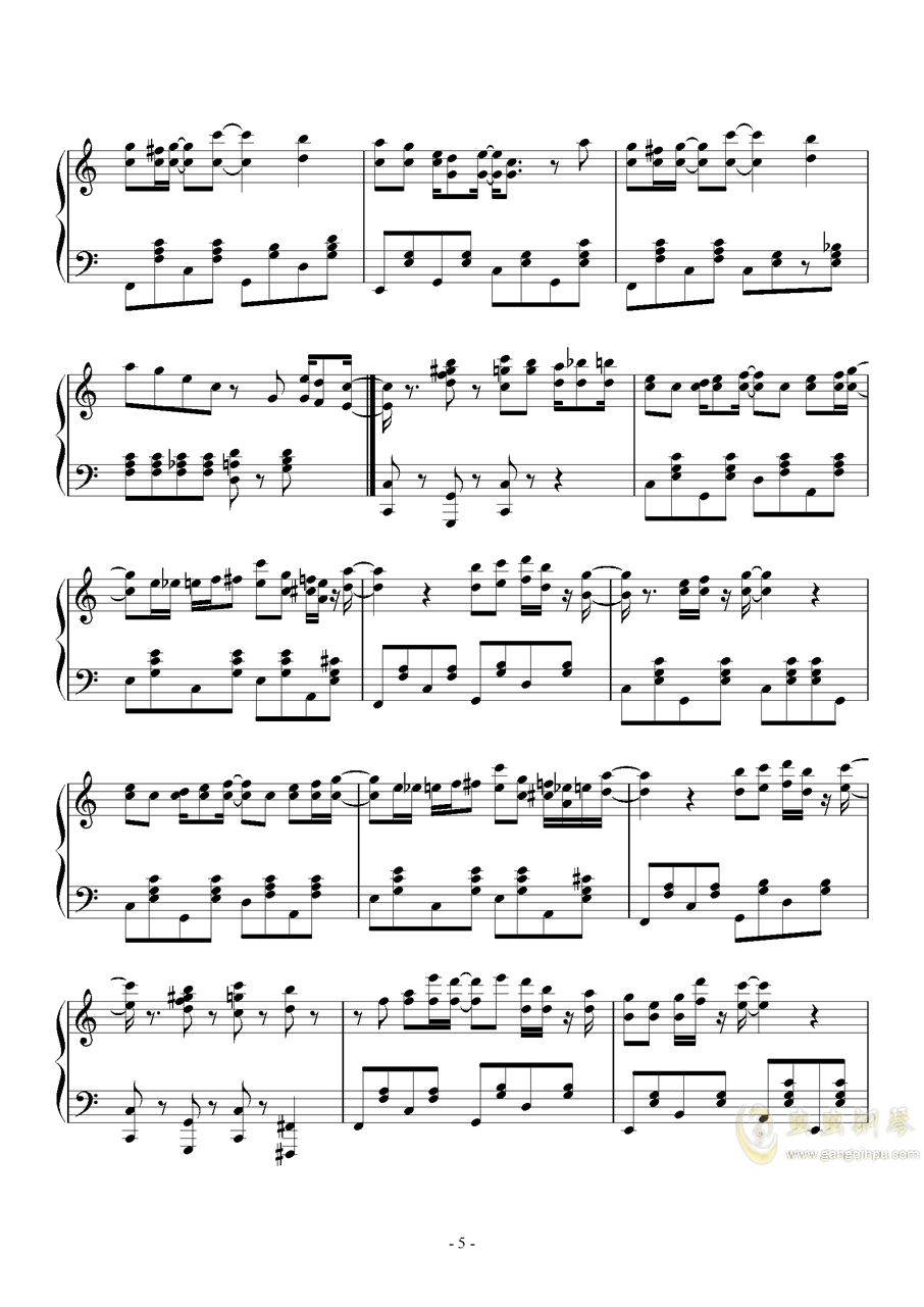 spring comes Along钱柜娱乐官网登录同人Masayoshi Minoshima钢琴谱 第5页