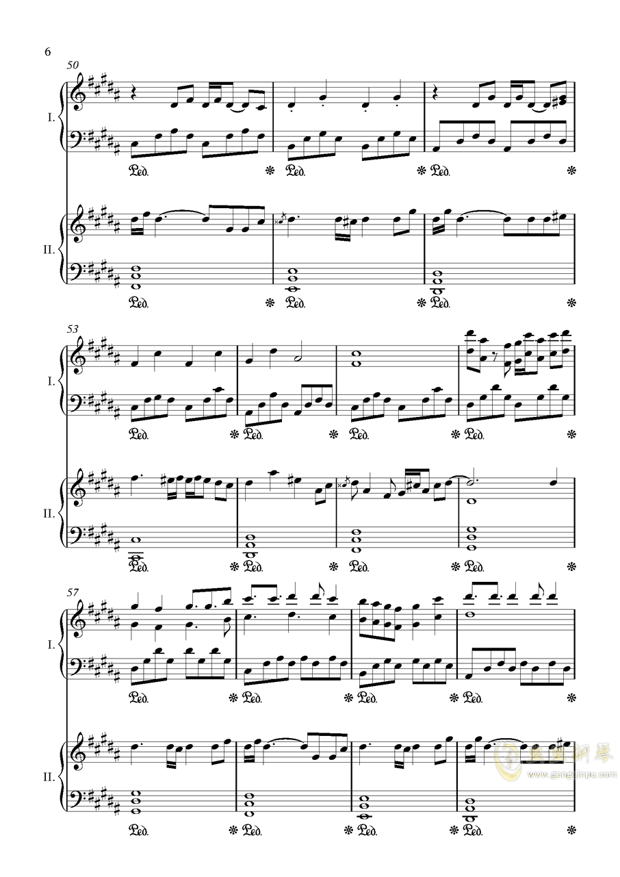阿加尔塔之风钢琴谱 第6页