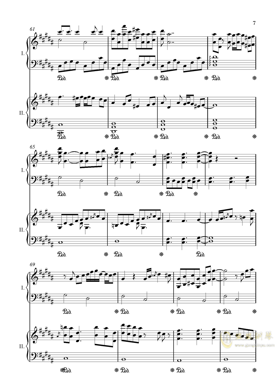 阿加尔塔之风钢琴谱 第7页