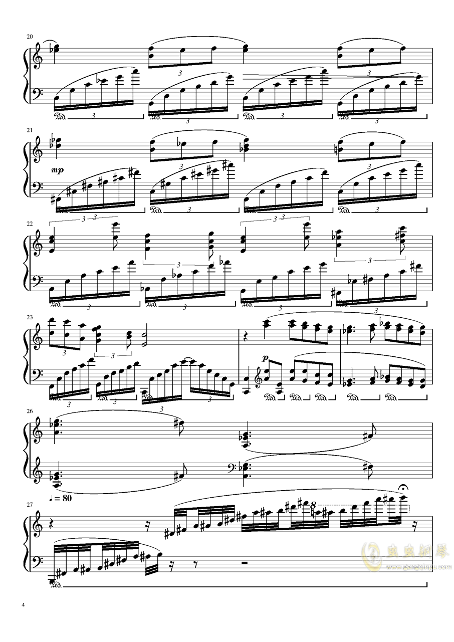 Ballade No.2, Op.93 谱子钢琴谱 第4页