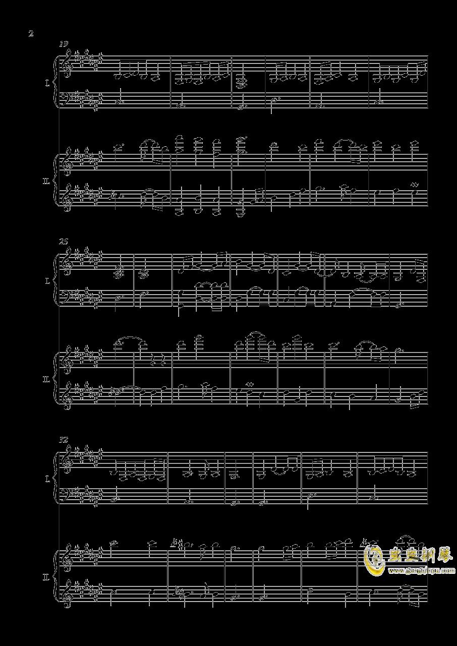 废狱摇篮曲(双钢)【NFT】钢琴谱 第2页