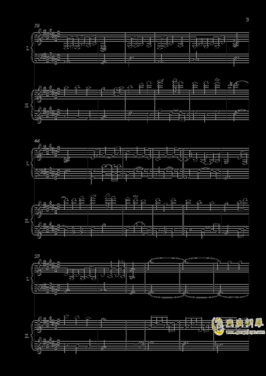 废狱摇篮曲(双钢)【NFT】钢琴谱 第3页