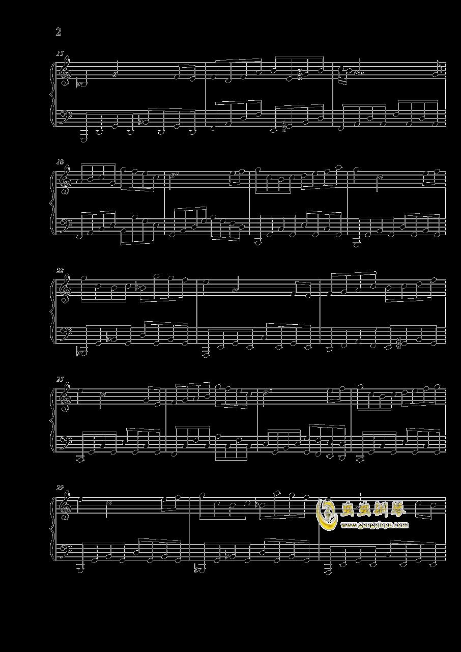 小小恋钢琴谱 第2页