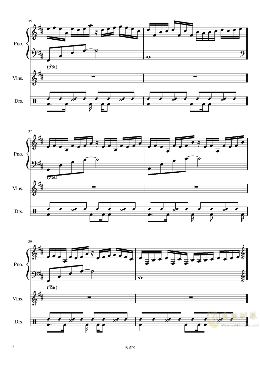 Somnambulating钢琴谱 第6页