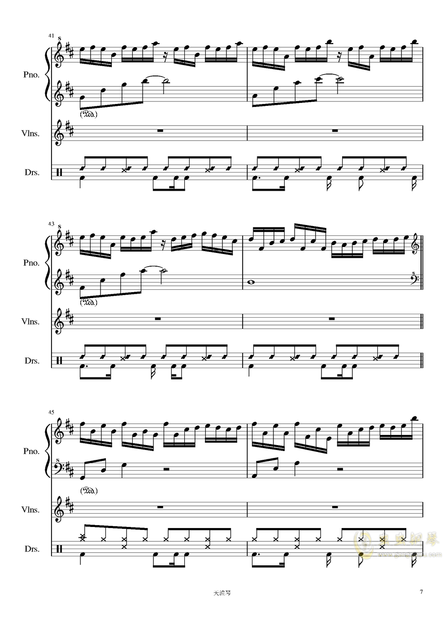 Somnambulating钢琴谱 第7页