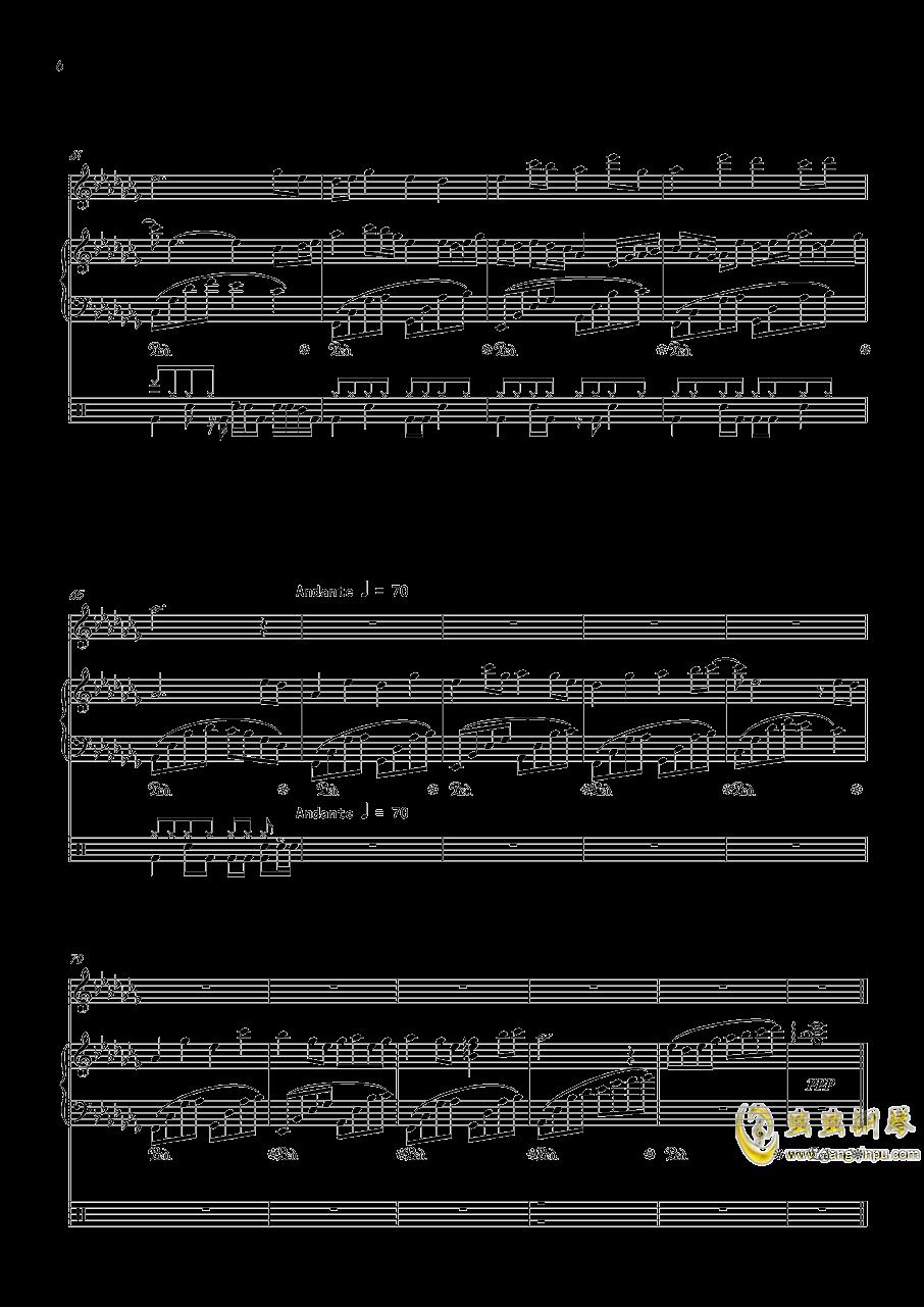 September钢琴谱 第6页