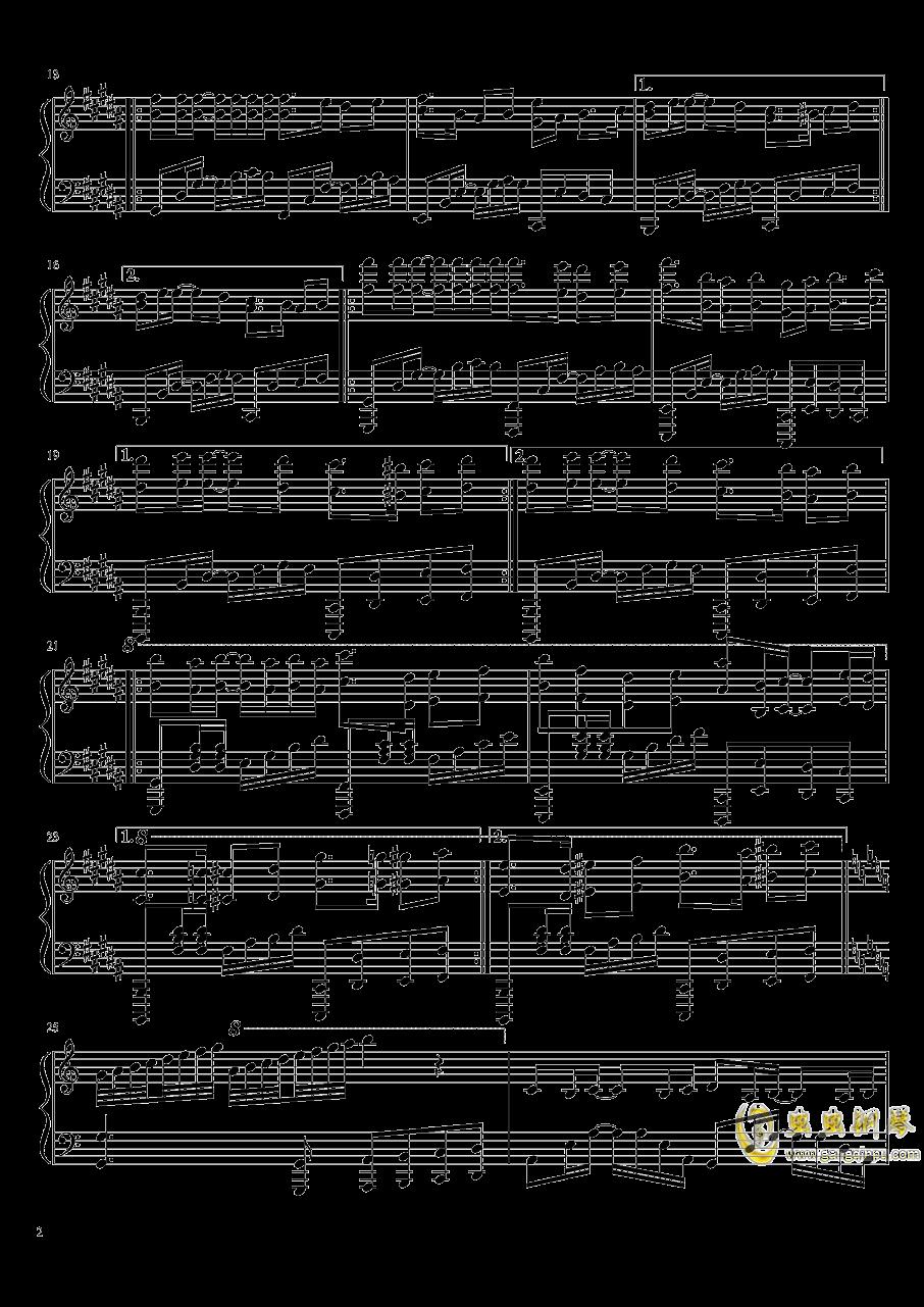爱与你相伴钢琴谱 第2页