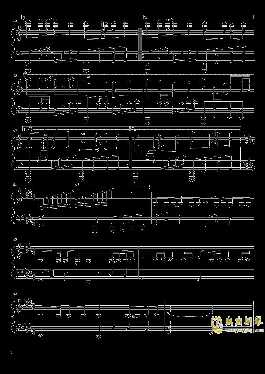 爱与你相伴钢琴谱 第4页