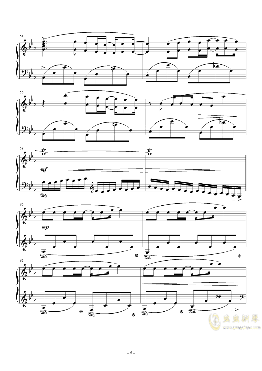 Fire Flower钢琴谱 第6页