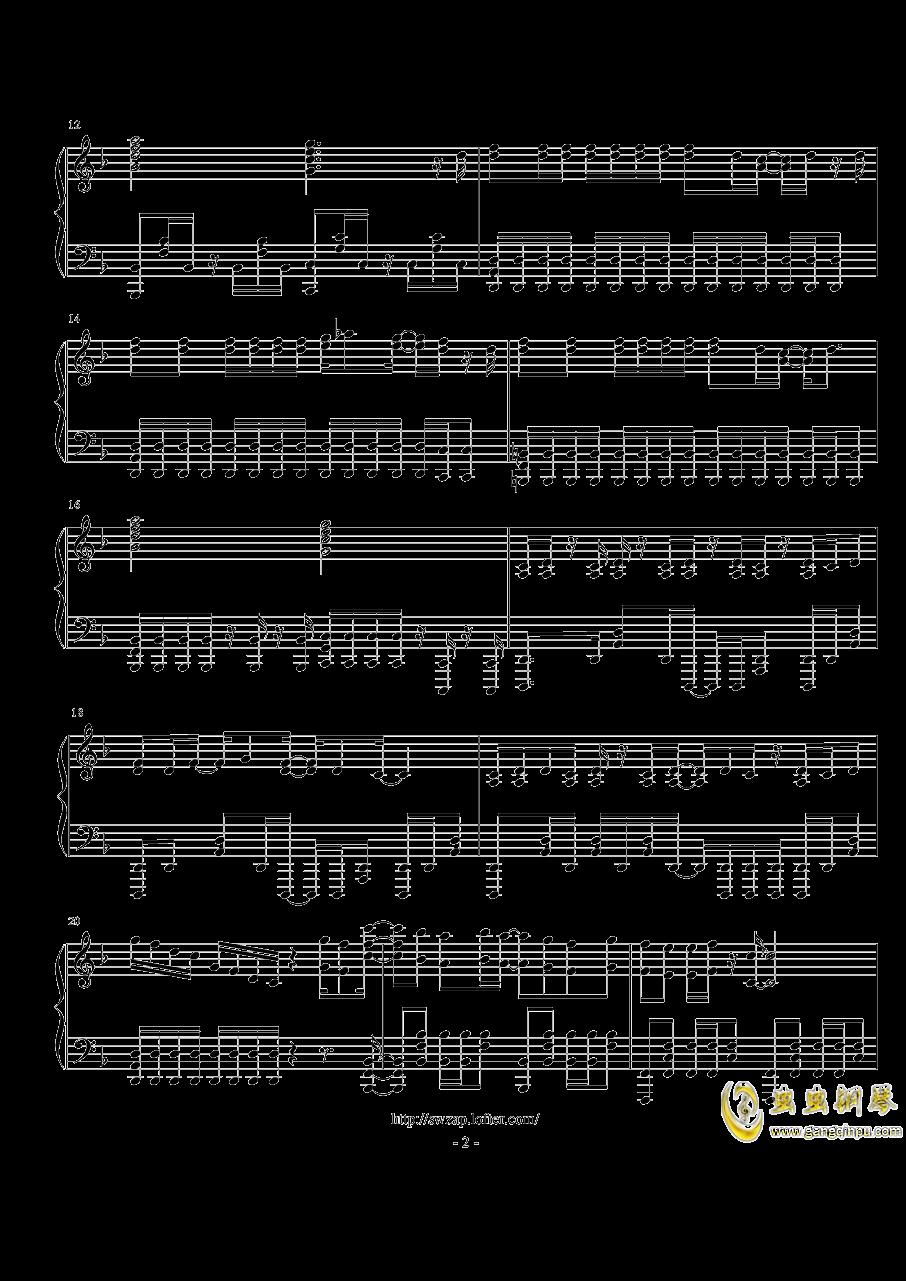【魔法禁书目录 III OP】Gravitation (TV Size)钢琴谱 第2页