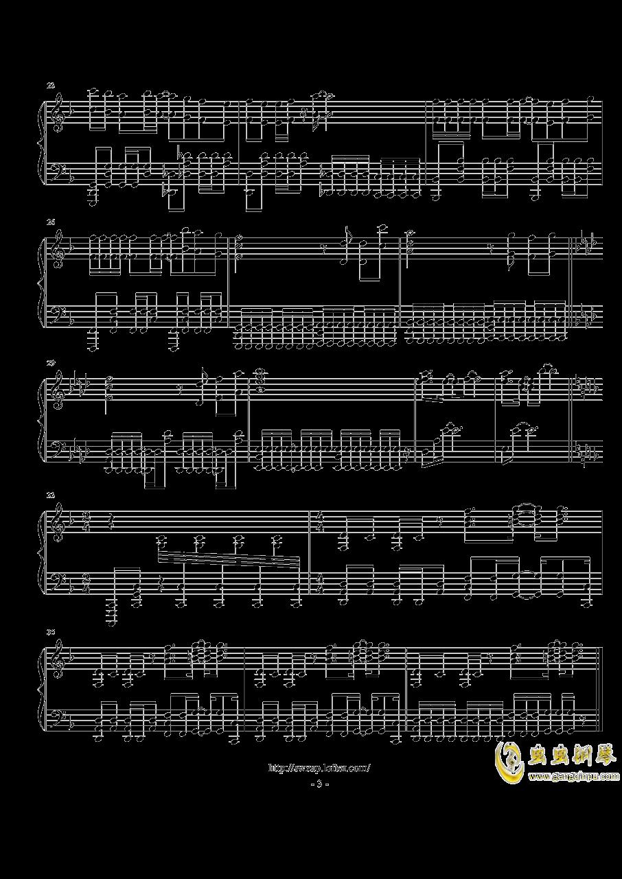 【魔法禁书目录 III OP】Gravitation (TV Size)钢琴谱 第3页