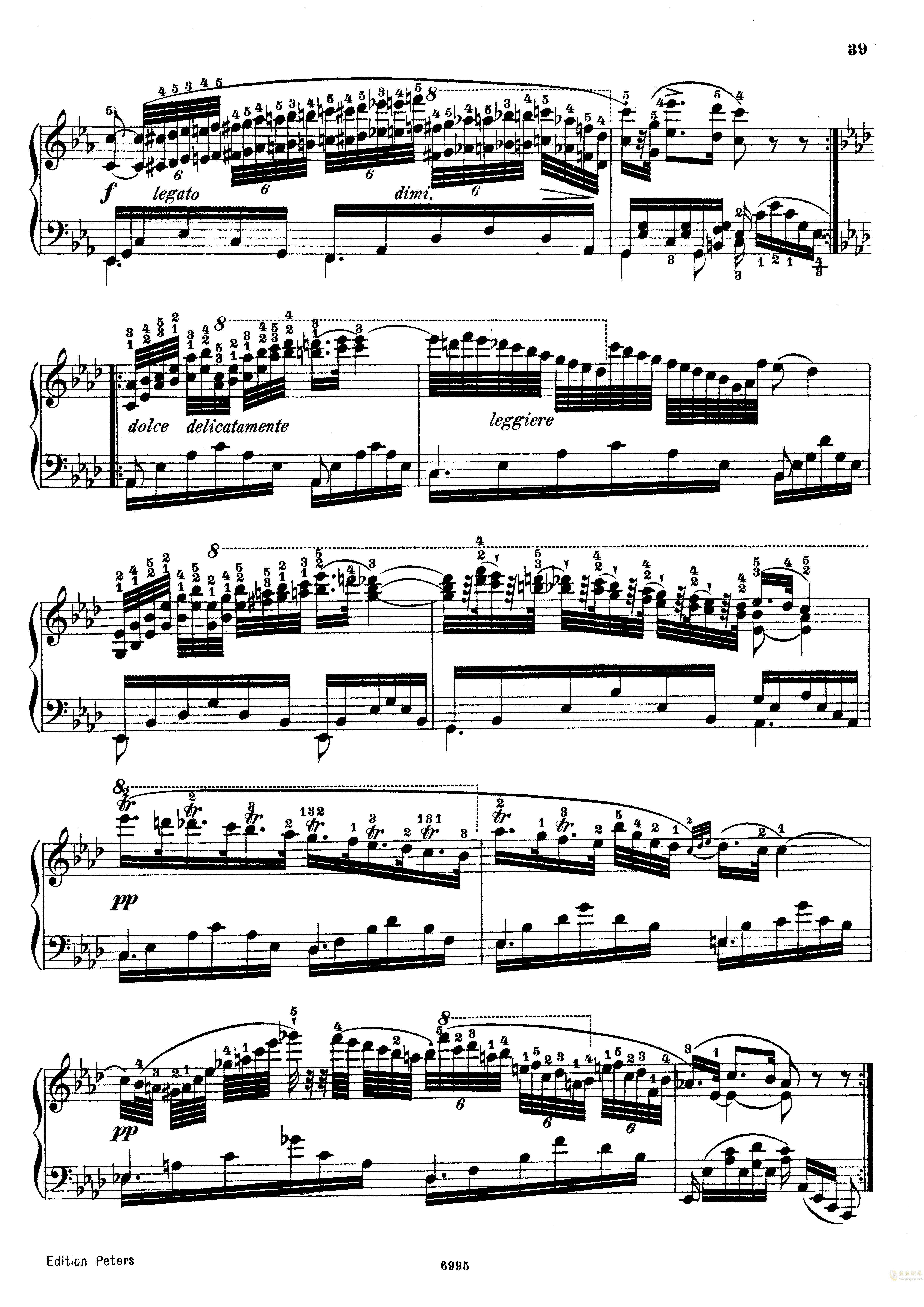 车尔尼练习曲Op.365 No.15钢琴谱 第2页
