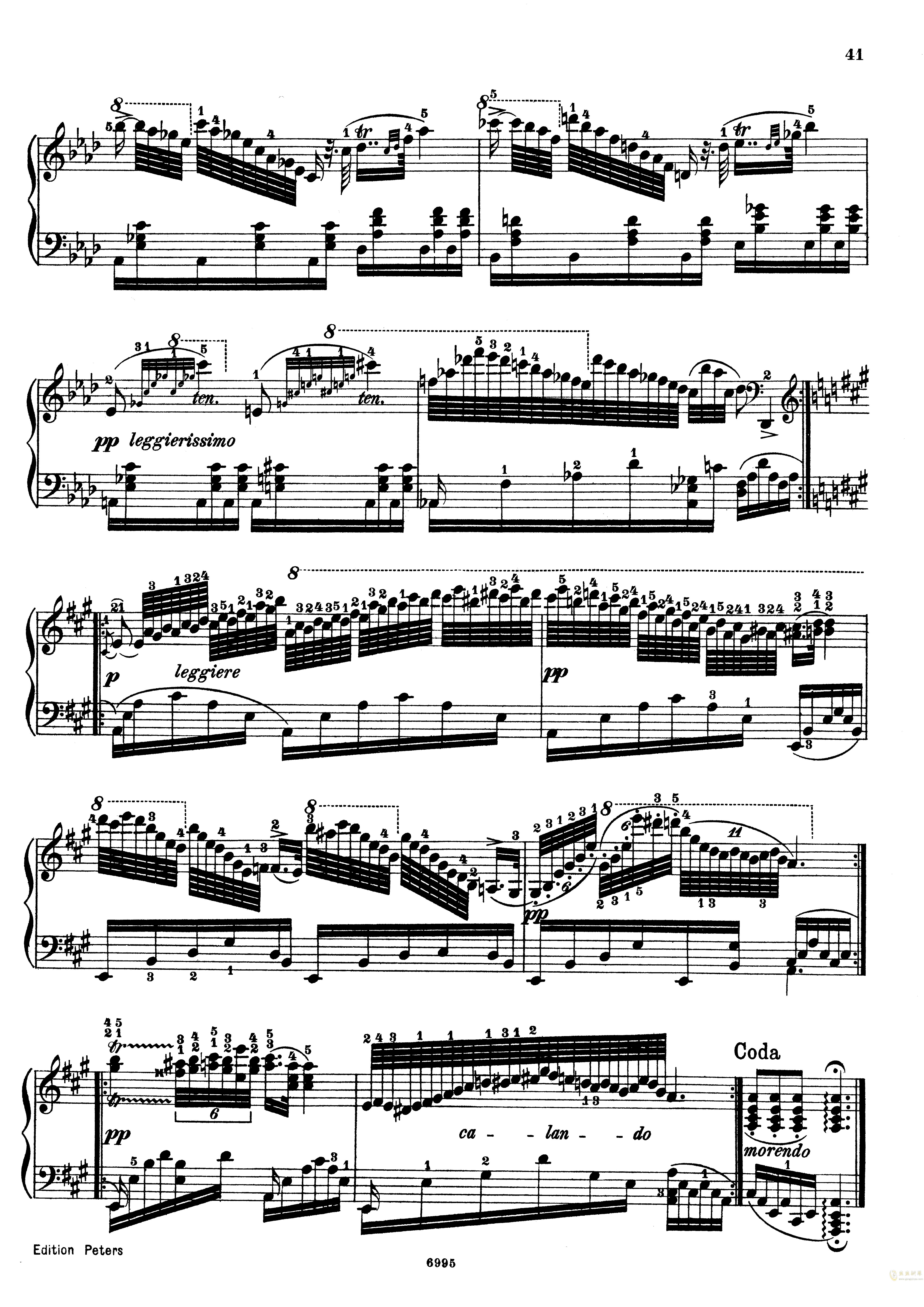 车尔尼练习曲Op.365 No.15钢琴谱 第4页