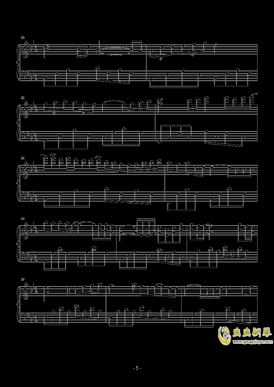 后来 华丽独奏钢琴谱 第5页