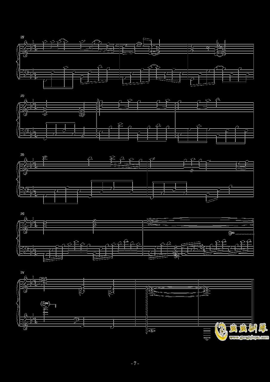 后来 华丽独奏钢琴谱 第7页