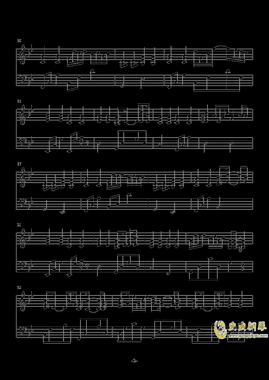 一千个伤心的理由钢琴谱 第2页