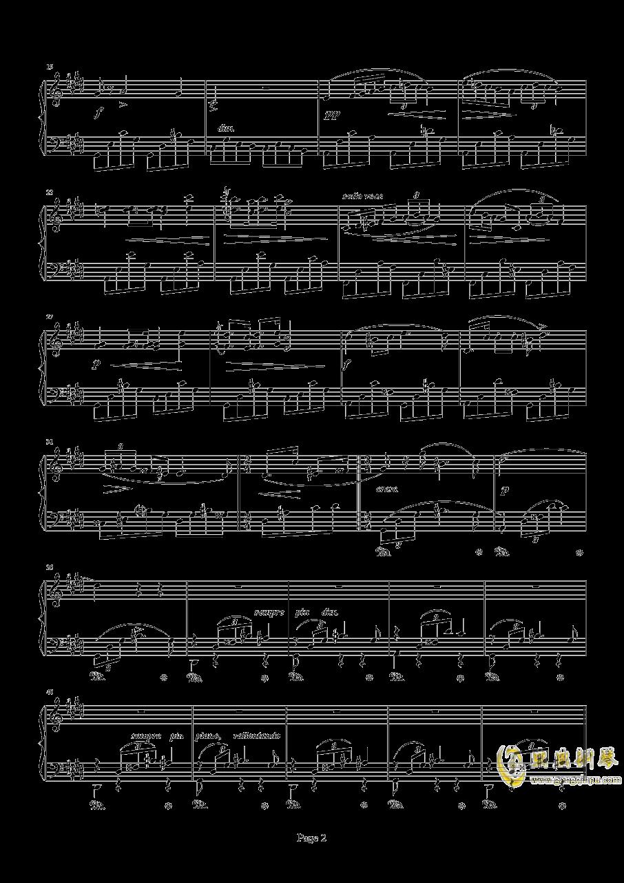 肖邦钢琴谱 第2页