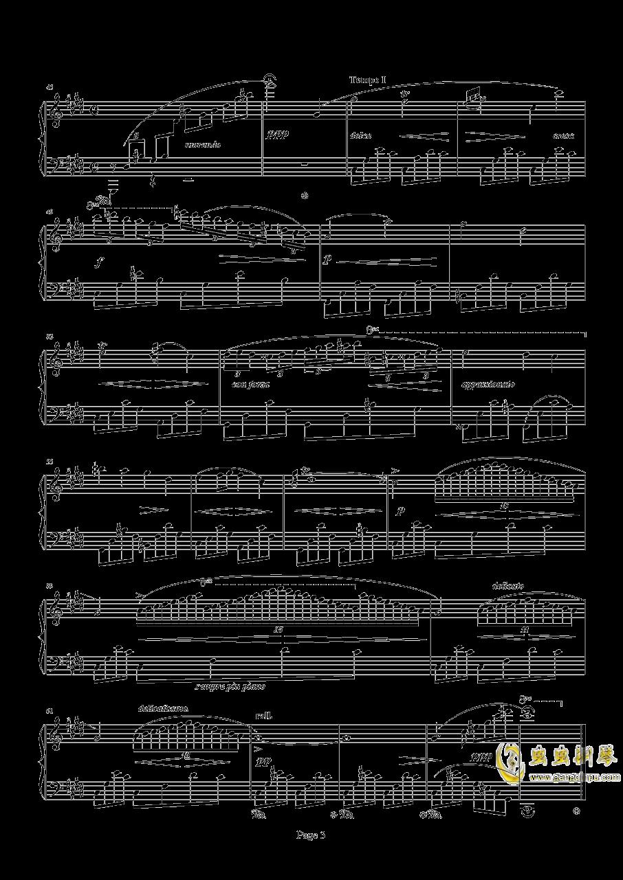 肖邦钢琴谱 第3页