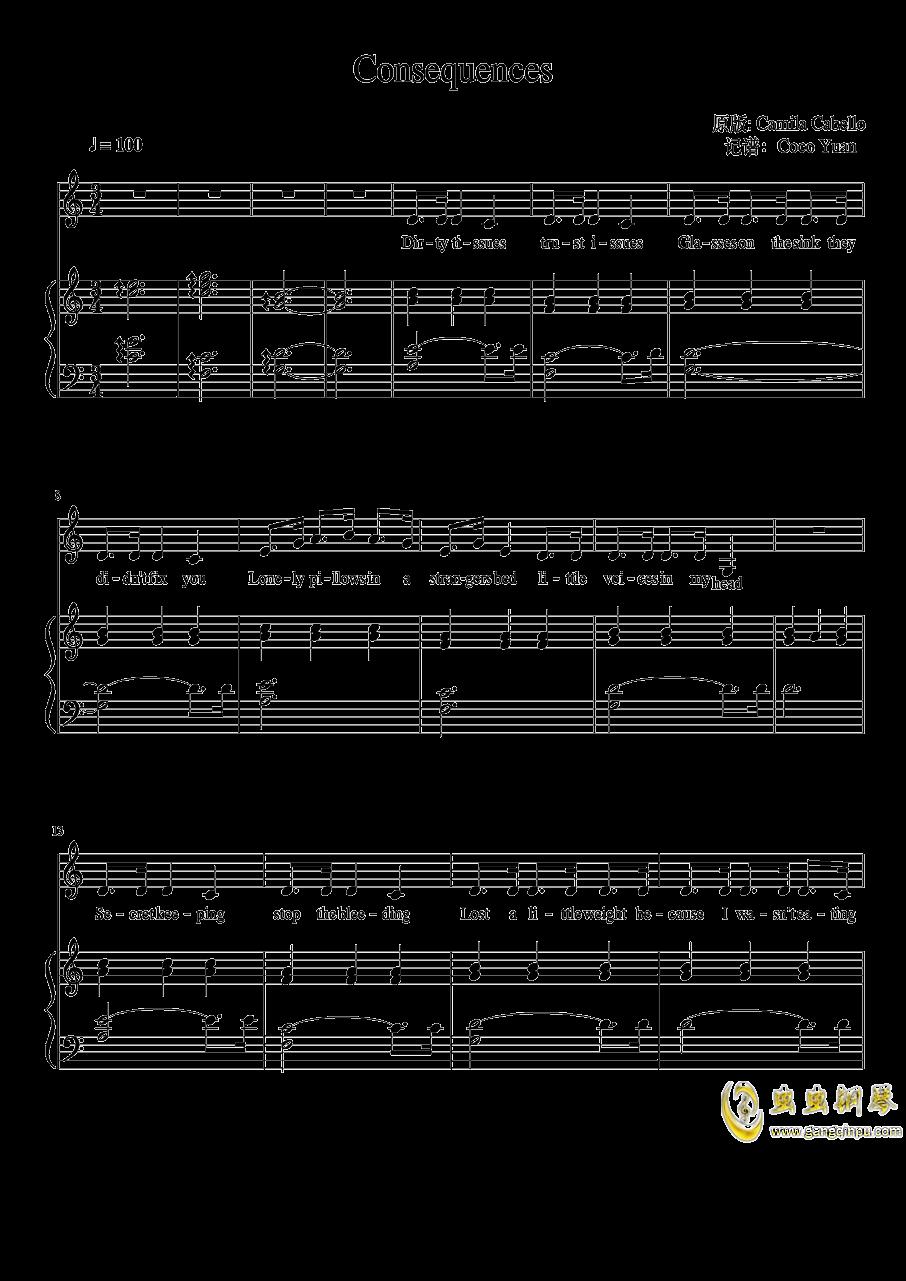 Consequences钢琴谱 第1页