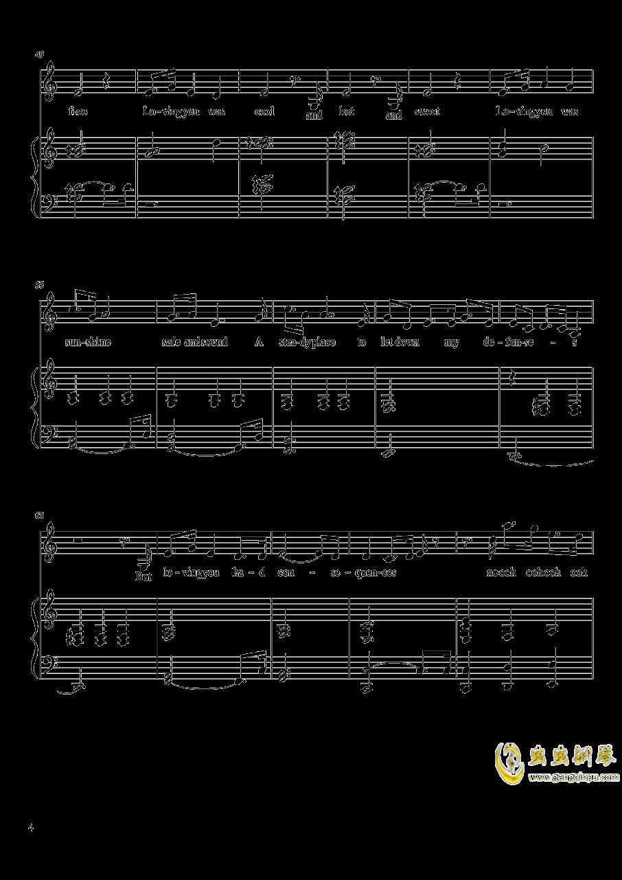Consequences钢琴谱 第4页