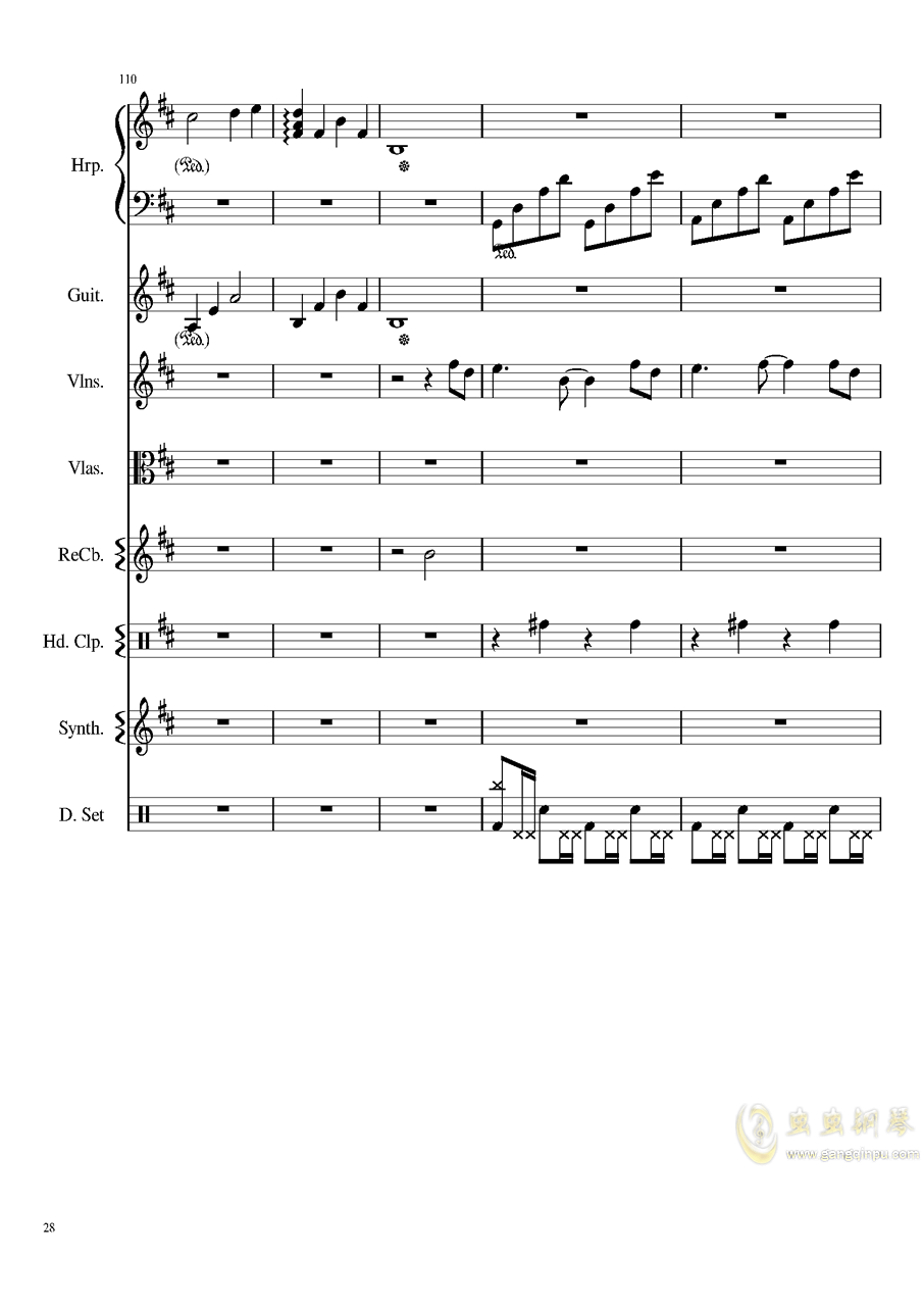 Take me hand钢琴谱 第28页