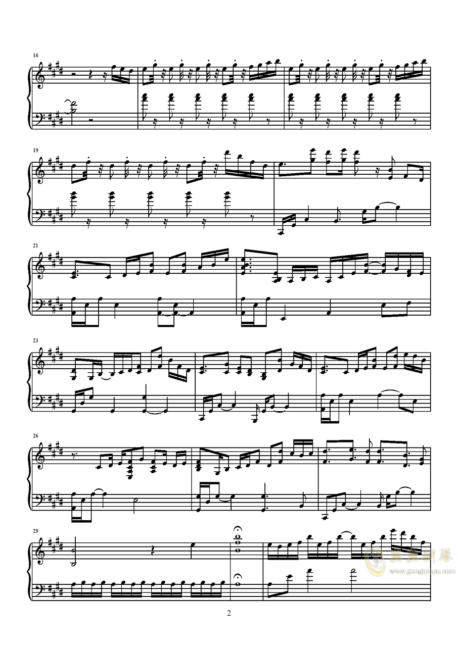 Palpitation!钢琴谱 第2页