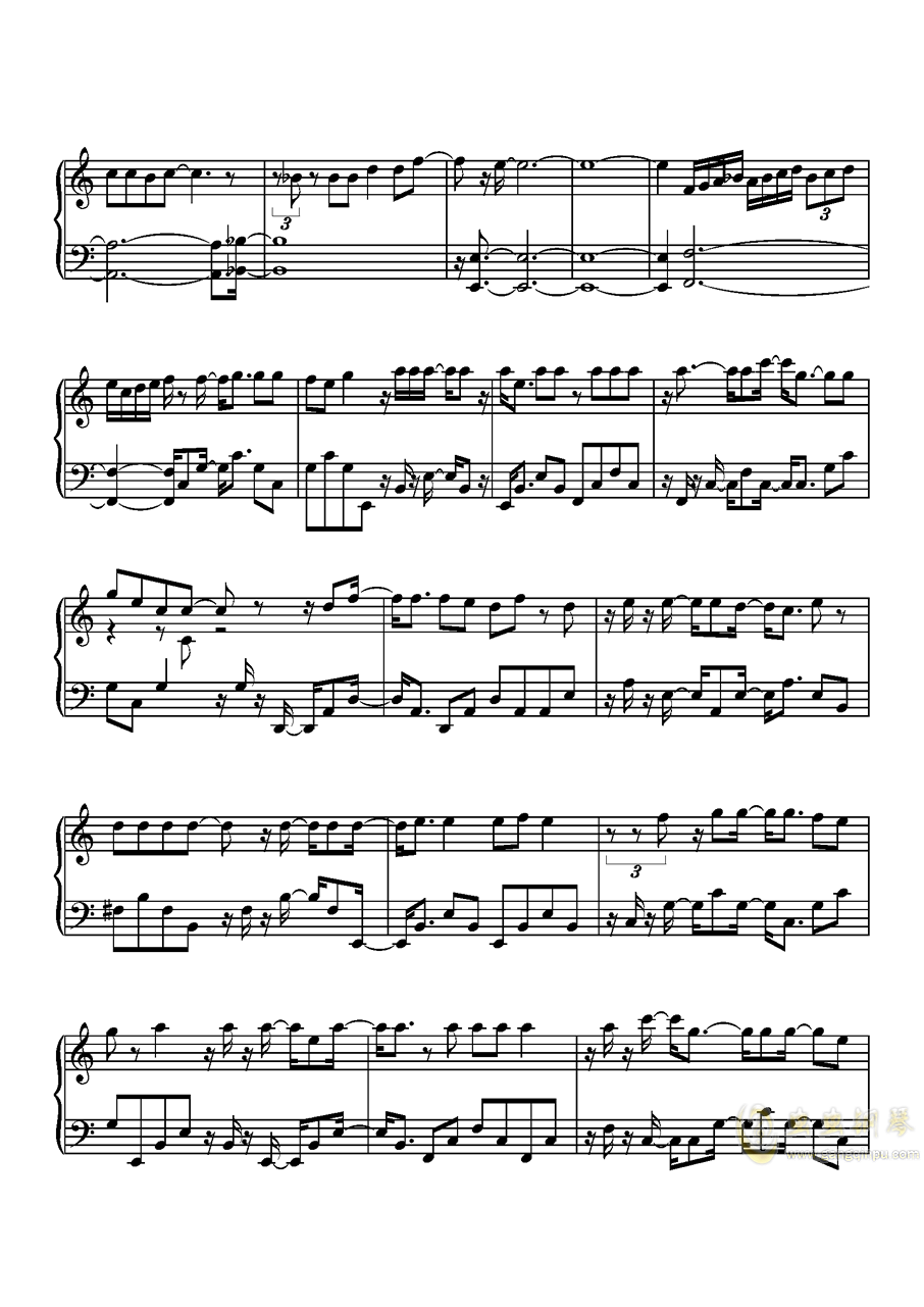 沙漠骆驼钢琴谱 第7页