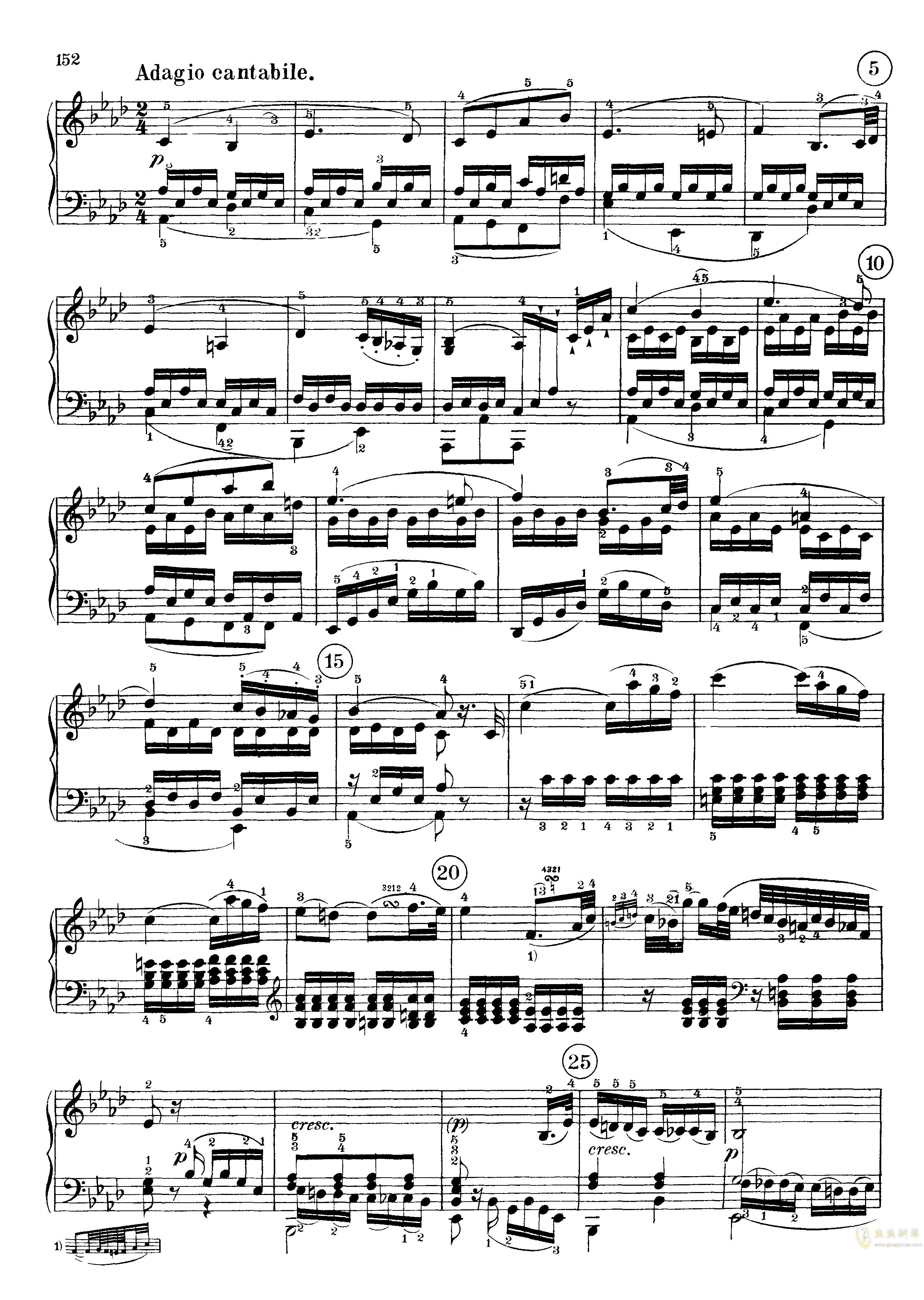 c小调第八号钢琴奏鸣曲钢琴谱 第10页